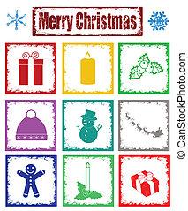 símbolos, selos, natal