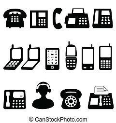 símbolos, telefone