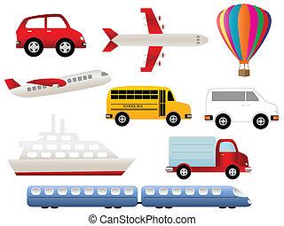 símbolos, transporte