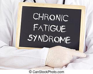 síndrome, doutor, information:, crônico, fadiga, mostra