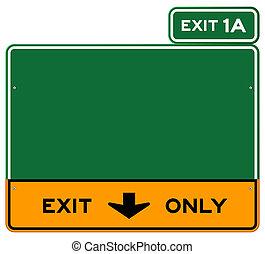 só, sinal saída