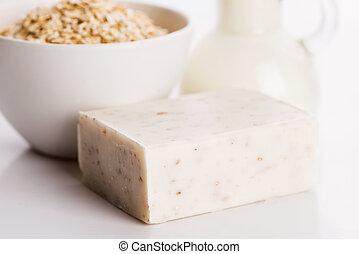 sabonetes, oatmeal