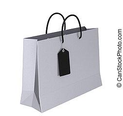 saco, luxo, shopping
