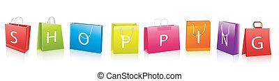 sacolas, shopping, venda