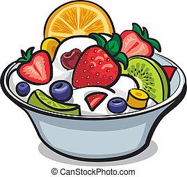 salada fresca fruta