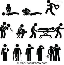 salvamento, emergência, ajuda, cpr, primeiro, ajuda