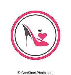 sapatos, calcanhares, alto, logotipo, ícone