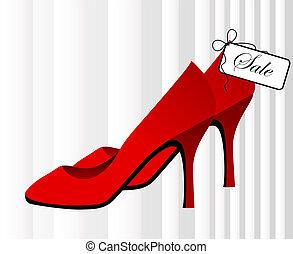 sapatos, vermelho, sal