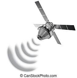 satélite, isolado