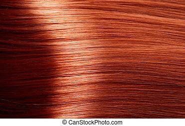 saudável, cabelo marrom