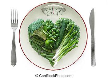 saudável, conceito, dieta