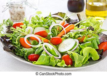 saudável, legumes, salada
