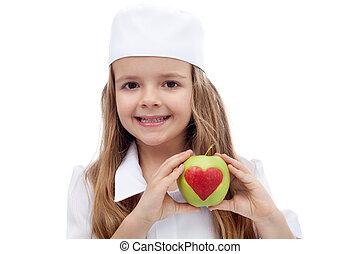 saudável, nutrição, conceito