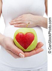 saudável, nutrição, gravidez, durante