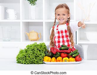 saudável, nutrição, legumes, base, -