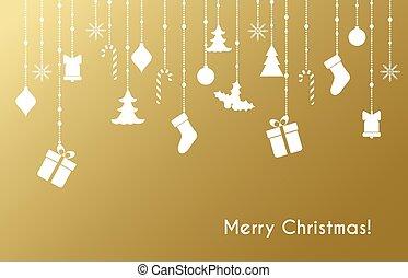 saudação, cartão natal, brinquedos