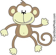 saudação, macaco