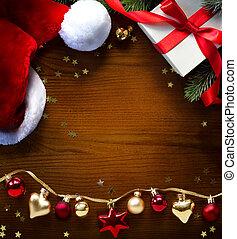 saudação, natal, fundo, cartão, bandeira, ou, feriados, arte
