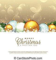 sazonal, elementos decorativos, natal, fundo