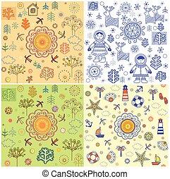 sazonal, têxtil, tecido, cartão, papel, padrão, abstratos, fundos, cobrança, convite, embrulhando, projeto teia, papel parede
