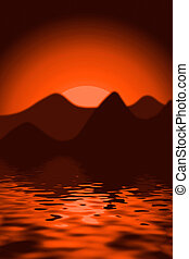 scenics, pôr do sol
