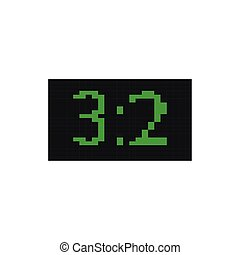 scoreboard, ícone, estilo, pixelated, bits, 8