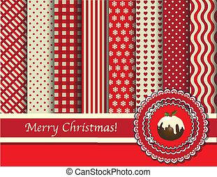 scrapbooking, natal, vermelho, creme