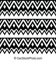 seamless, aztec, tribal, padrão