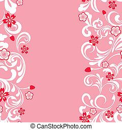 seamless, flor, cereja, quadro, cor-de-rosa
