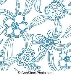seamless, padrão, floral