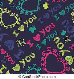 seamless, padrão, romanticos, corações