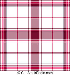 seamless, padrão, white-lilas, tartan