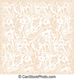seamless, papel parede, floral