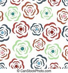 seamless, teste padrão flor, fundo, coloridos, brilhar