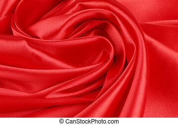 seda, drapery., vermelho