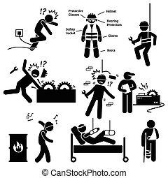 segurança, profissional, trabalho, saúde