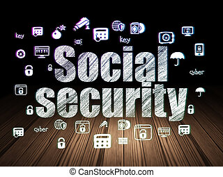 segurança, sala, concept:, social, escuro, proteção, grunge