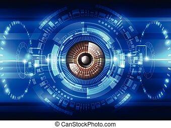 segurança, vetorial, sistema, fundo, abstratos, futuro, ilustração tecnologia