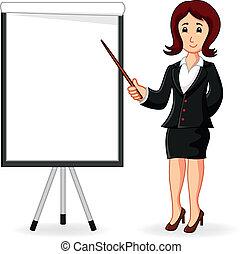 segurando, mulheres, treinamento, ficar