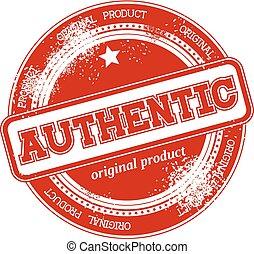 selo, autêntico, vetorial, grunge