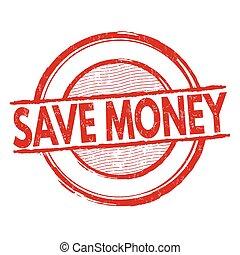 selo, dinheiro, salvar