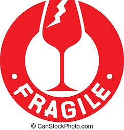selo, symbol), frágil, (fragile