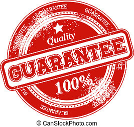 selo, vetorial, grunge, garantia
