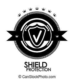 selo, vindima, tag, etiqueta, proteção, pretas, retro, emblema, |