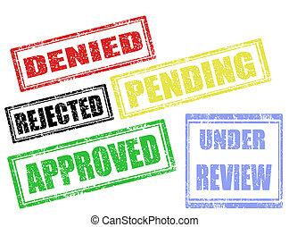 selos, aprovação