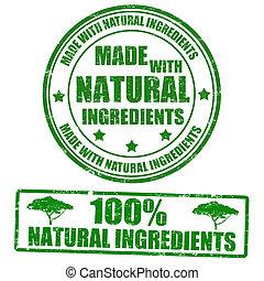 selos, feito, natural, ingredientes