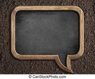 semear, solo, conselho, em branco, texto, quadro-negro, mensagem, ou