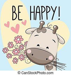 ser, cartão cumprimento, feliz