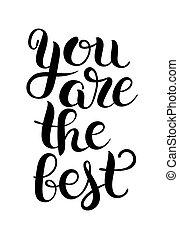 ser, citação, modernos, pretas, positivo, branca, caligrafia, tu