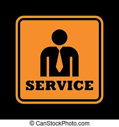 serviço, ícone